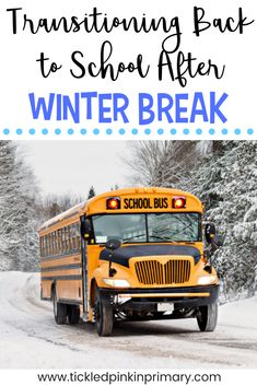 You haven't had school in over 2 weeks so you've probably enjoyed binge watching tv, staying in your pajamas all day, and eating whatever/whenever you want (please tell me that's not just me). Getting back in the swing of school after winter break is going to be hard for you and your students, but here are a few tips to help make that transition a bit easier.