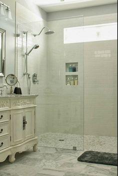 Walk in shower - no door