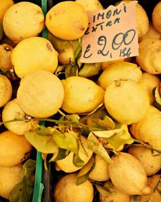 in the market for lemons—to make limoncello, of course. (march 2014)
