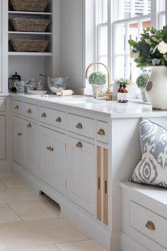 This unique laundry sink is honestly a remarkable style construct. Modern Shaker Kitchen, Tv In Kitchen, Prep Kitchen, Kitchen Interior, Kitchen Design, Kitchen Cabinets, Kitchen Ideas, Kitchen Inspiration, Country Kitchen