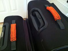 Paracord luggage identifiers.