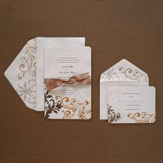 champgan chocolate weddings | Brides Wedding Collection Michaels : Wedding Invites & Stationery ...