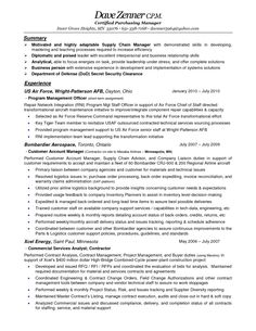 Sample Resume For Someone Seeking A Job As A Planner Or Manager In