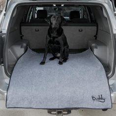 """This new multi-purpose product is a """"must-have"""" for every vehicle. It is 4 ft x 4 ft - a one size fits all solution. You simply put it in your vehicle or truck and fold it down below your bumper to protect your clothing from your bumper's dirt. Car Trunk, Christmas Dog, Car Accessories, Cool Gifts, Interior And Exterior, Trunks, Vehicle, Pets, Clothing"""