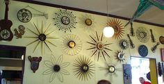 Seventies clocks... My parents had one of the clocks on this wall when I was growing up!