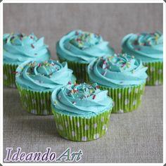 Cupcakes sin gluten de chocolate con buttercream de vainilla