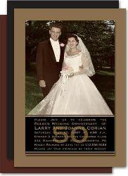 Ideas for Mum & Dad - 4131g  50th Anniversary Party Invitation Photo Card Gold Studio Milestone