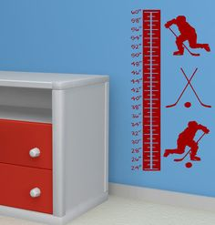 Vinyl Lettering Hockey Growth Chart Wall by twiceasnicelettering, $30.00