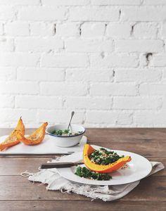 Post image for Roasted Pumpkin, Kale & Couscous Salad