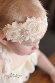 Items similar to Baby Headband.Baby Headbands on Etsy Shabby Chic Headbands, Shabby Chic Flowers, Lace Headbands, Baby Girl Headbands, Newborn Headbands, Baptism Headband, Object Photography, Diy For Girls, Colour Images