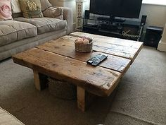 Reclaimed Pine Coffee Table - Rustic Furniture,railway sleeper,oak,shabby chic