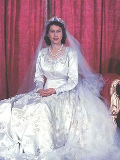 Princess Elizabeth on her Wedding Day.