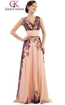 b895c611869 Long Chiffon Floral Evening Dresses for Women Plus Size 20. Beaded  Creations · Grace Karin Designer Dresses
