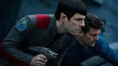 "Zachary Quinto, left, and Karl Urban appear in a scene from ""Star Trek Beyond. Star Trek Beyond, Star Trek 4, Star Trek Into Darkness, Female Directors, Star Trek Movies, Zachary Quinto, Karl Urban, Blu Ray, The Hollywood Reporter"