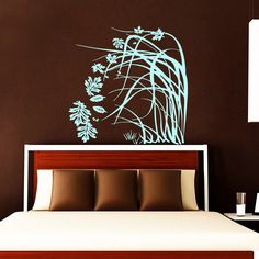 Wall Decals Flower Tree Decal Vinyl Sticker Home Falling Leaves Floral Art Decor Kitchen Interior Design Bedroom Dorm Living Room NA323 by VinylDecals2U on Etsy https://www.etsy.com/listing/234809154/wall-decals-flower-tree-decal-vinyl