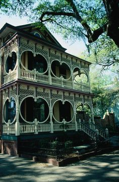 Architecture of the historic homes in Savannah
