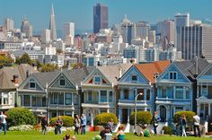 Alamo Square View of San Francisco jigsaw puzzle in Puzzle of the Day puzzles on TheJigsawPuzzles.com