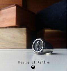 Hand Made from Sterling Silver and finished with a hammered texture. Each ring is made to fit the wearer and is available in all sizes. Signet Ring, Class Ring, Rings, House, Posters, Texture, Sterling Silver, Store, Jewelry