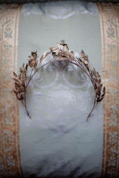 Edwardian bridal crown~Image via Love my Dress If I got married in the fall....