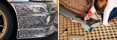 Guy Lets His Artist Wife Doodle With Sharpie Pen On His Nissan Skyline GTR - BoredPanda