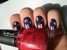 Fourth of July Manicures --7 Red White and Blue Nail Treatments