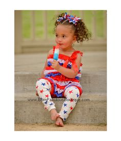 Very pretty little girl, in a great 4th of July outfit.