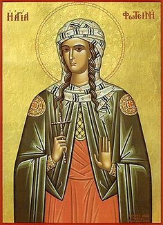 Photini Equal to the Apostles icon Orthodox icon of St. Photini the Great-martyr of Samaria. Commemorated February The Orthodox icon of the Holy Martyr Photini (Svetlana) who is the Samaritan Woman who Jesus met at Jacob's well (John. Religious Images, Religious Icons, Religious Art, Jacobs Well, Greek Icons, Art Through The Ages, Byzantine Icons, Orthodox Christianity, Russian Beauty