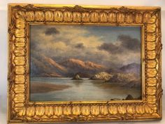 A stunning, dated 1870, Victorian Oil on Artists Board depicting a Highland Lock Scene by the well listed and highly collectible Victorian artist Pretty Pictures, Pretty Pics, Old Frames, Artist At Work, Painting Inspiration, Auction, Scene, Victorian, Fine Art