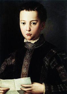Agnolo Bronzino ~ Portrait of Francesco I di Medici 1551