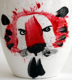 Hand painted mug Hand Painted Mugs, Design, Painting, Atelier, China Painting, Animals, Gifts, Painting Art, Paintings