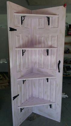 Door Shelf via Dumpster Diva (photo only)