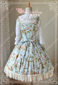 Sweet Magic Tea Party JSK Floral Fairy Castle Lolita Dress