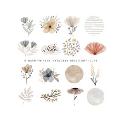 highlight icons vintage 80 story highlight icons business bundle the Watercolor Logo, Watercolor Circles, Cupcake Logo, Planner Stickers, Photo Editing Apps, Clipart, Orange Plant, Animated Gifs, Photography Marketing