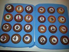 Super Mario cupcakes,  chocolate and vanilla