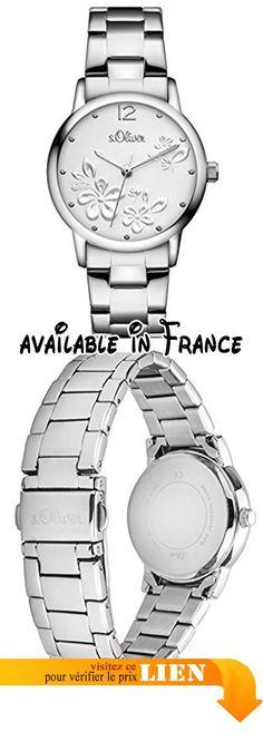 B0183KA1NE : s.Oliver - SO-3139-MQ - Montre Femme - Quartz - Analogique - Bracelet Acier inoxydable Argent.