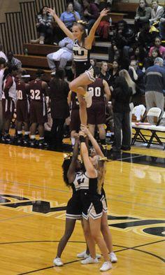 Anderson University cheerleaders.