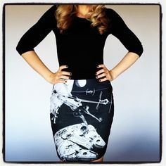 New Millennium Falcon Pencil Skirt From Her Universe