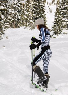 From cute printed base layers to technical ski jackets and salopettes. These pieces will keep you looking hot on the slopes.