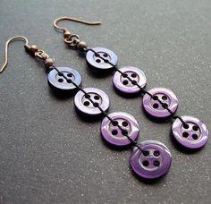 RICICLO CREATIVO - Ricavare un paio di orecchini da bottoni inutilizzati! Seguici sul nostro blog: http://creazionebijoux.cplfabbrika.com/