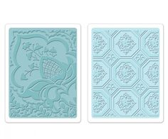 Sizzix Embossing Folders FREE SPIRIT FLORAL SET - Brand New - Set of 2