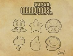 """Check out new work on my @Behance portfolio: """"Items. Super Mario Bros"""" http://be.net/gallery/41217613/Items-Super-Mario-Bros"""