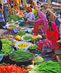 Farmers Market - Global Bazaar - World Travel - India Trip - Vacation Ideas