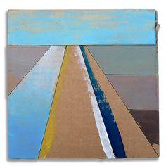 Hans Gerritsen — Karton_serie_01 - Abstract Dutch landscape painting on cardboard, Holland, Groningen, cardboard