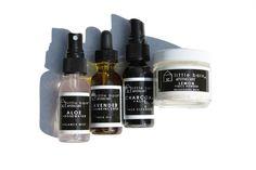 Sample kit of face cleanser, face oil, face mask, balance mist.