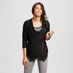 Women's Textured French Terry Side Zip Jacket - J'AIME (Juniors')