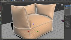 sillon cloth.mp4 Outdoor Chairs, Outdoor Furniture, Outdoor Decor, 3ds Max Tutorials, 3d Max, Tub Chair, Accent Chairs, Exploring, Modeling