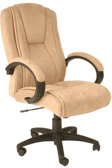 118.99-Faux Suede Executive Chair - Beige, 60-0971 by Comfort Products | BizChair.com