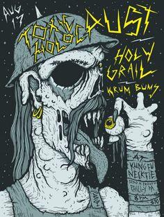 FYI Monday Brunofsky Toxic Holocaust Gig Poster