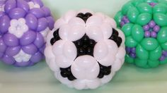 How to make a soccer ball out of balloons. Step by step video tutorial.
