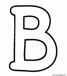 The Uppercase Letter B Alphabet Coloring Page Alphabet Letters To Print, Uppercase Alphabet, Big Letters, Bubble Letters, Alphabet For Kids, Painted Letters, Letters And Numbers, Alphabet Coloring Pages, Coloring Pages For Kids